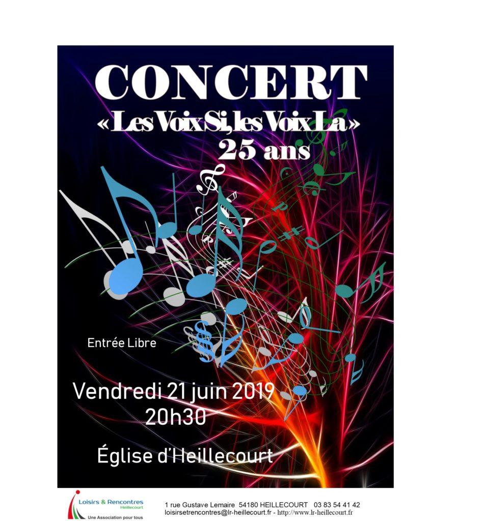 Concert «Les Voix Si, Les Voix la» vendredi 21 juin 2019